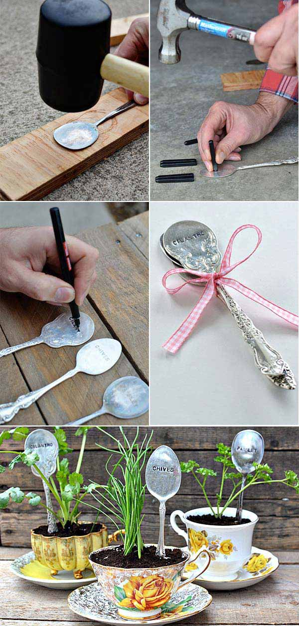19 Cute And No Money Ideas To Label The Garden Plants