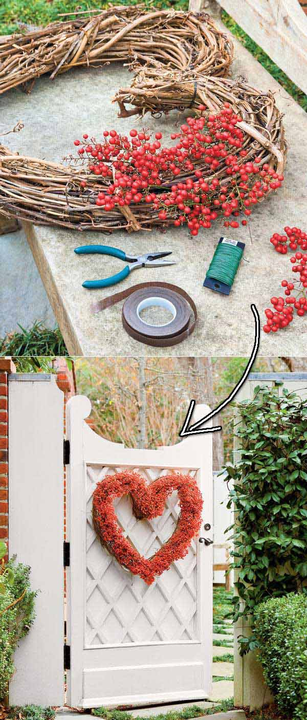 Outdoor Decorating Ideas with Hearts for This Valentines