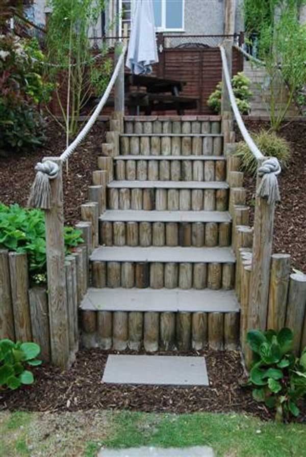 The Best 23 Diy Ideas To Make Garden Stairs And Steps Amazing   Outdoor Steps Design For House   Metal   Farm House Wide Front Porch   Handrail   Outdoor Walkway   Fancy