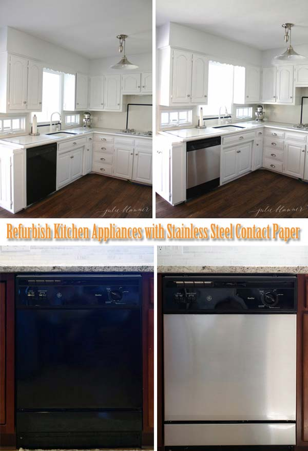 cheap stainless steel kitchen appliances brass hardware the best 22 decorating hacks using contact paper ...