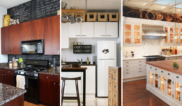decorating kitchen sharp knives 20 stylish and budget friendly ways to decorate above cabinets
