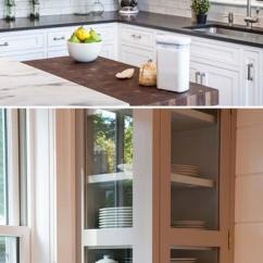 Kitchen Corner Cabinet Lowes Cabinets In Stock Fabulous Hacks To Utilize The Space Of Replace A With Glass Gallery Or Open Shelve Create An Attractive Feature