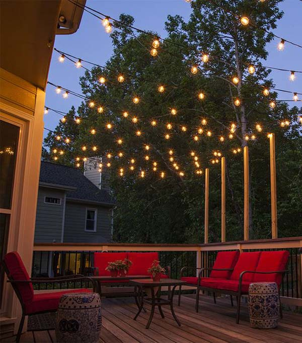 Elegant and great led under cabinet lighting! 27 DIY String Lights Ideas For Fall Porch and Yard