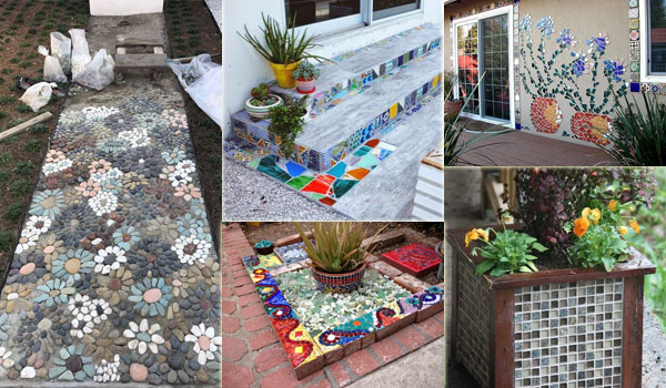 easy and cute diy mosaic ideas for garden and yard koby kepert