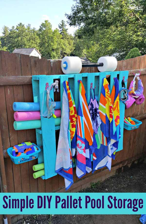 diy pool side pallet projects for