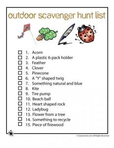 Scavenger Hunt Ideas Woo Jr Kids Activities