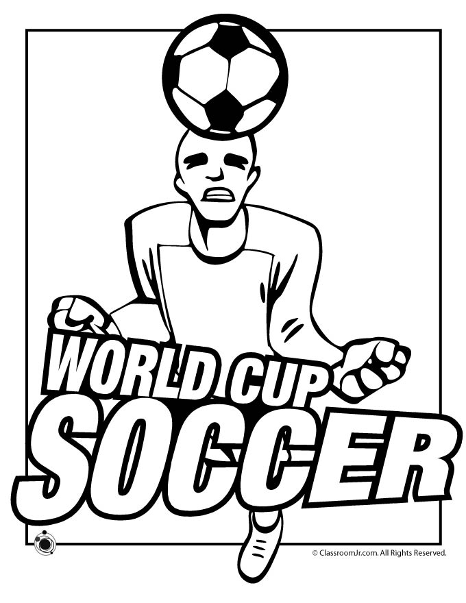 World Cup Soccer Coloring Page Woo Jr Kids Activities