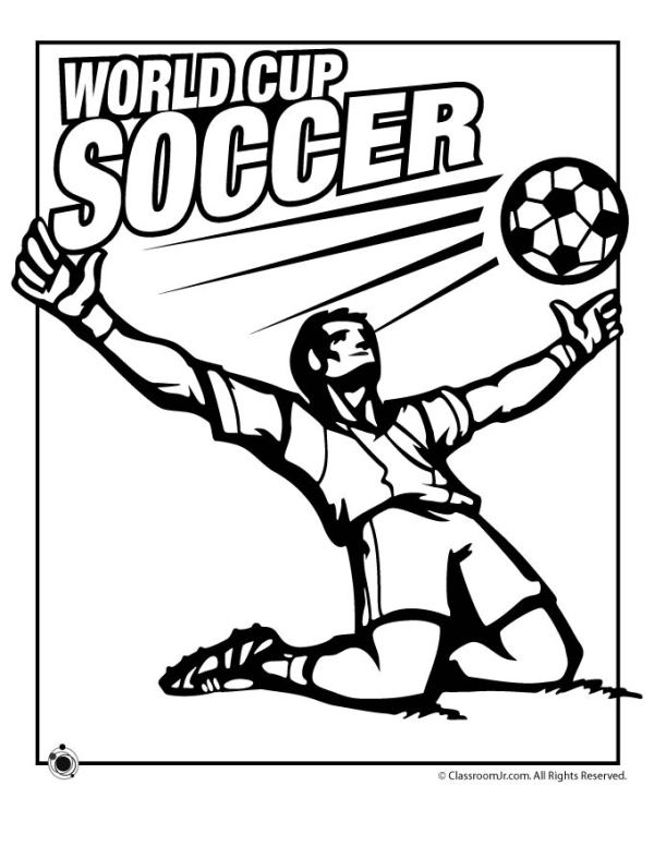 soccer coloring page # 4