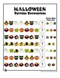 Halloween Pattern Recognition Worksheet | Woo! Jr. Kids ...