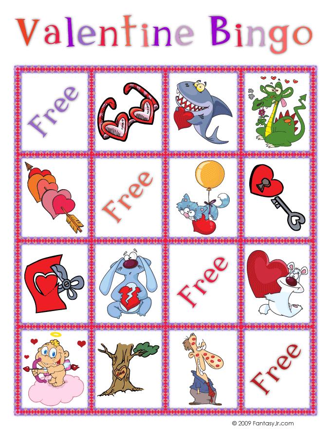 Valentine Bingo Printable Cards