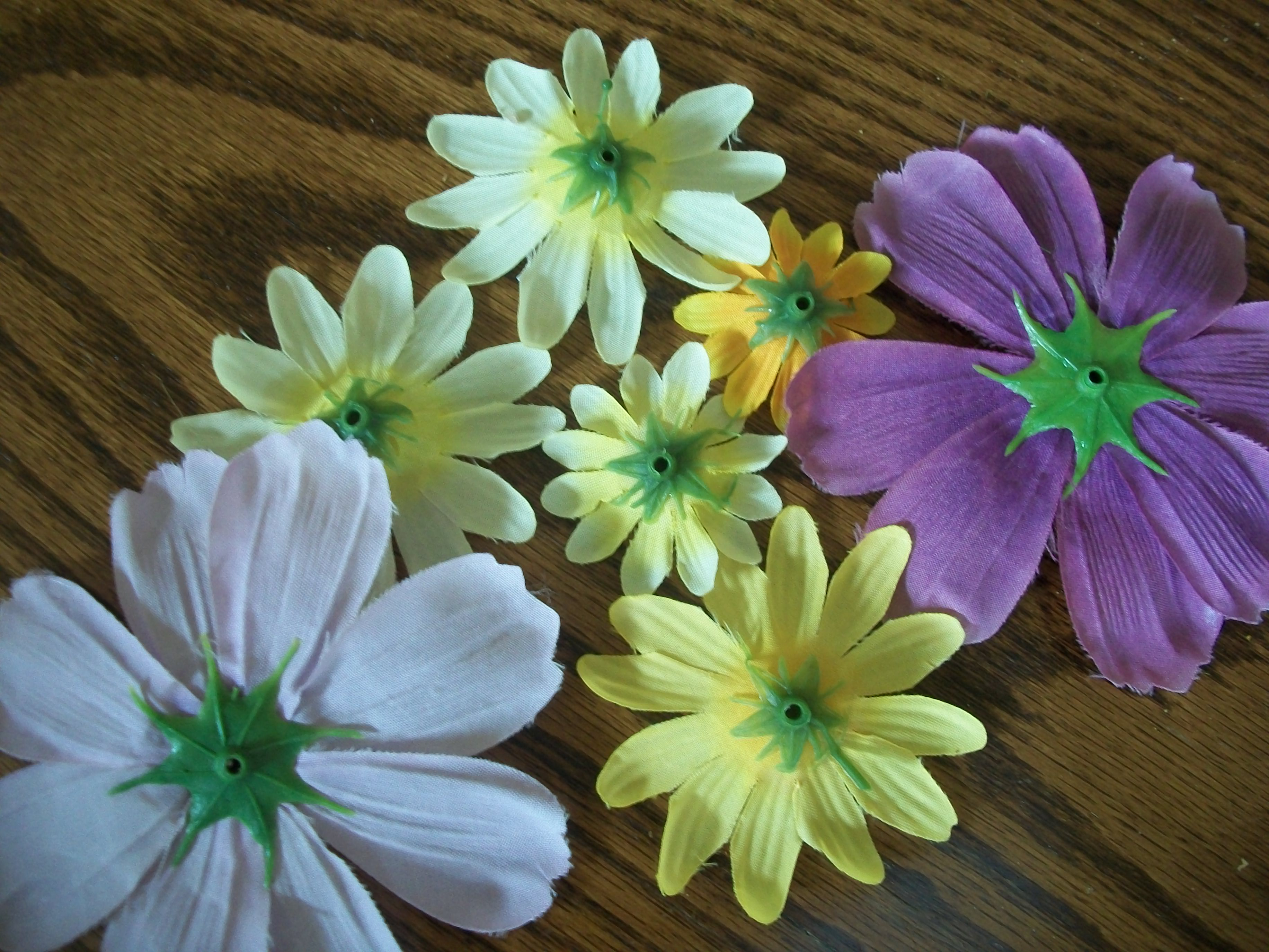 Pull The Flowers Off The Plastic Stems And Cut Off The