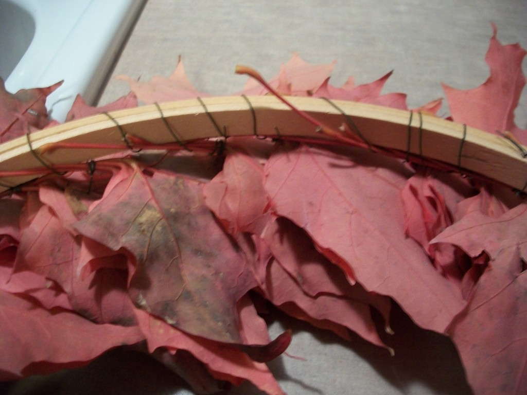 The Back Of Your Autumn Leaf Wreath Will Look Like This As You Work Your Way Around It