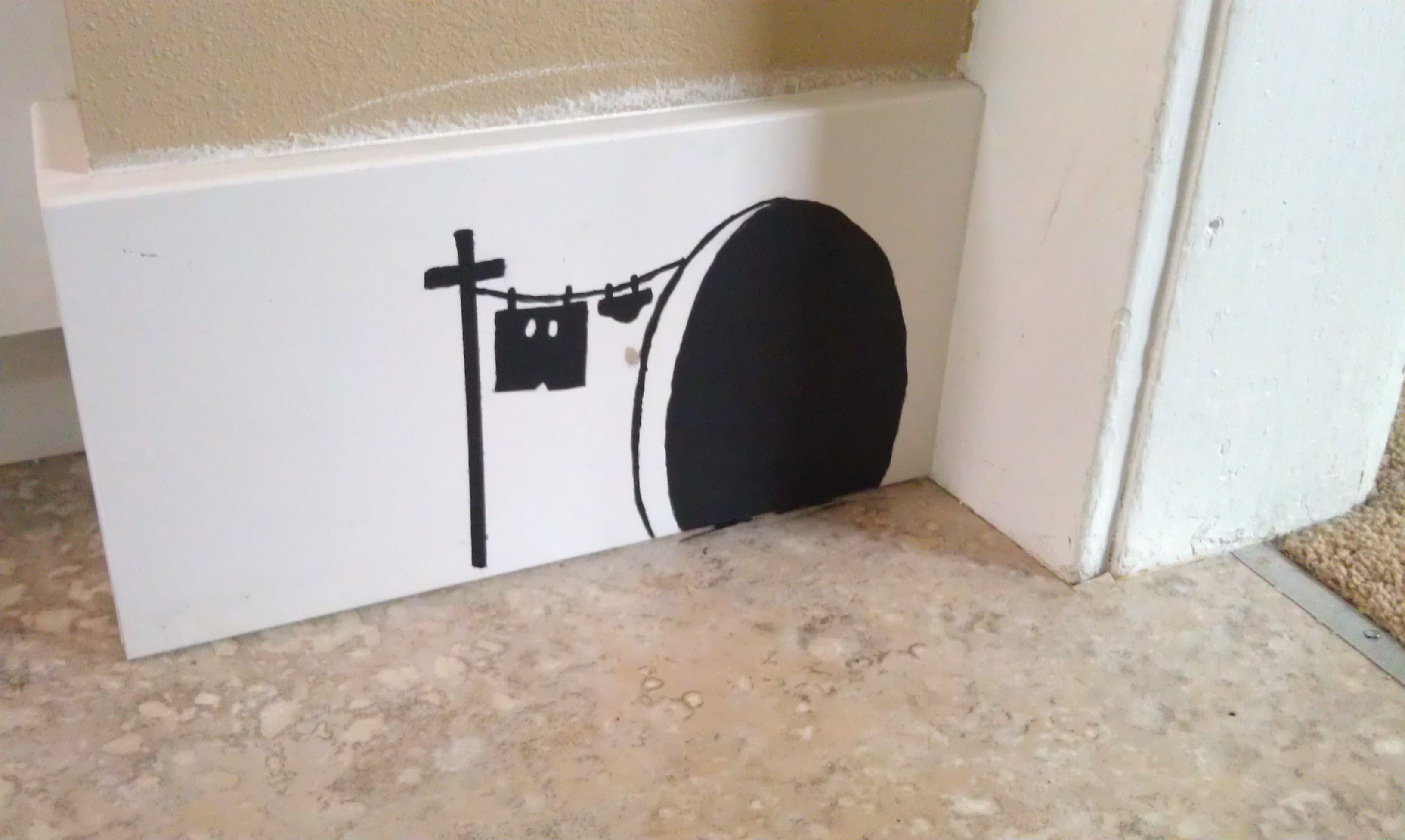 Painting A Mouse Hole On The Wall