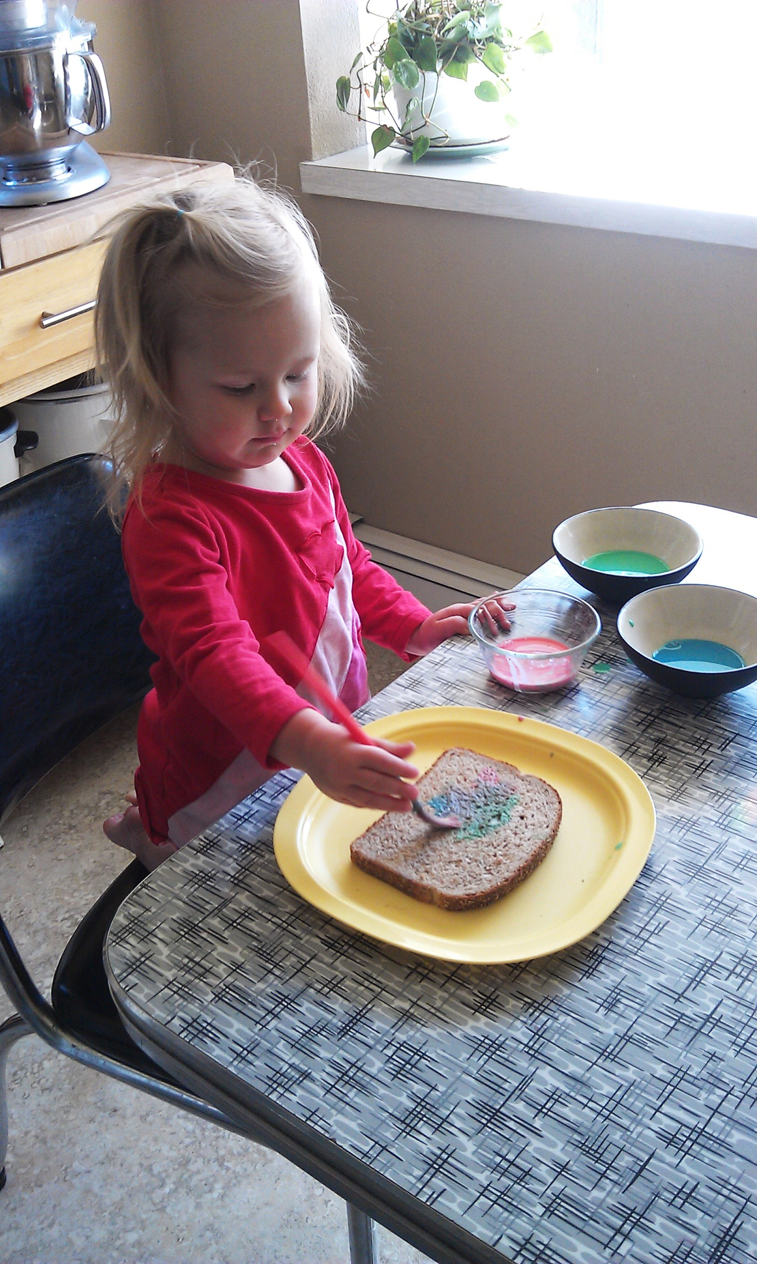 Painting Bread Craft For Toddlers
