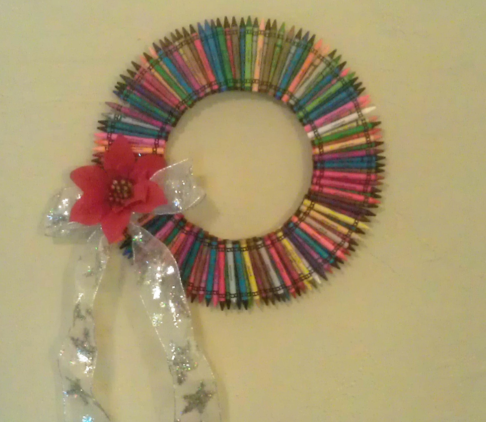 Finished Crayon Wreath