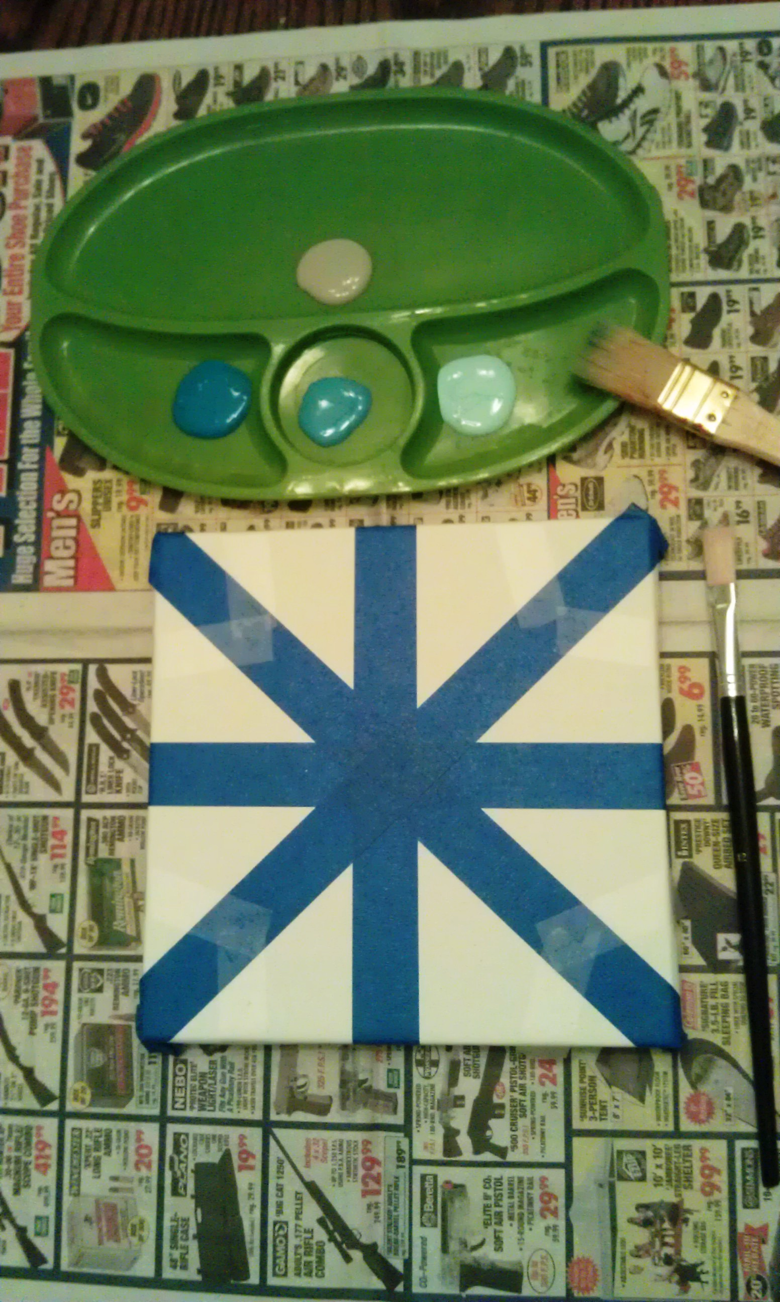 Snowflake With Painter Tape