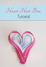 heart hair bow craft valentine's