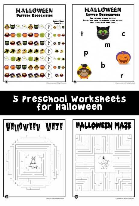 Preschool Worksheets For Halloween Woo! Jr Kids Activities