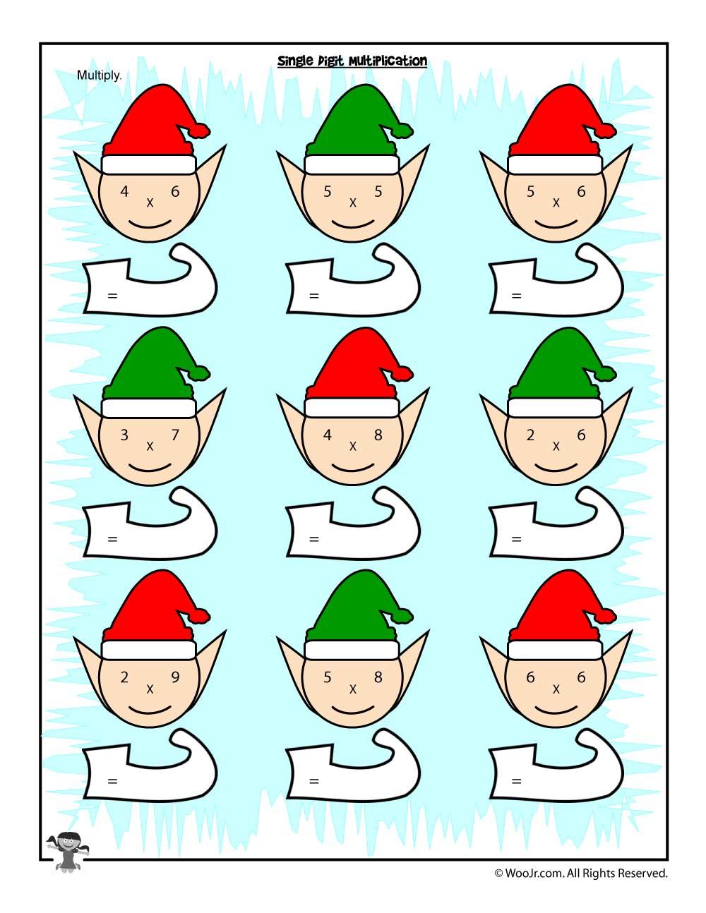 medium resolution of Christmas \u0026 Winter Math Worksheets for 2nd