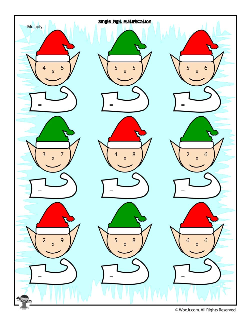 hight resolution of Christmas \u0026 Winter Math Worksheets for 2nd
