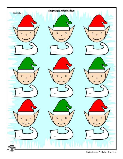 small resolution of Christmas \u0026 Winter Math Worksheets for 2nd