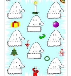 Christmas \u0026 Winter Math Worksheets for 2nd [ 1294 x 1000 Pixel ]
