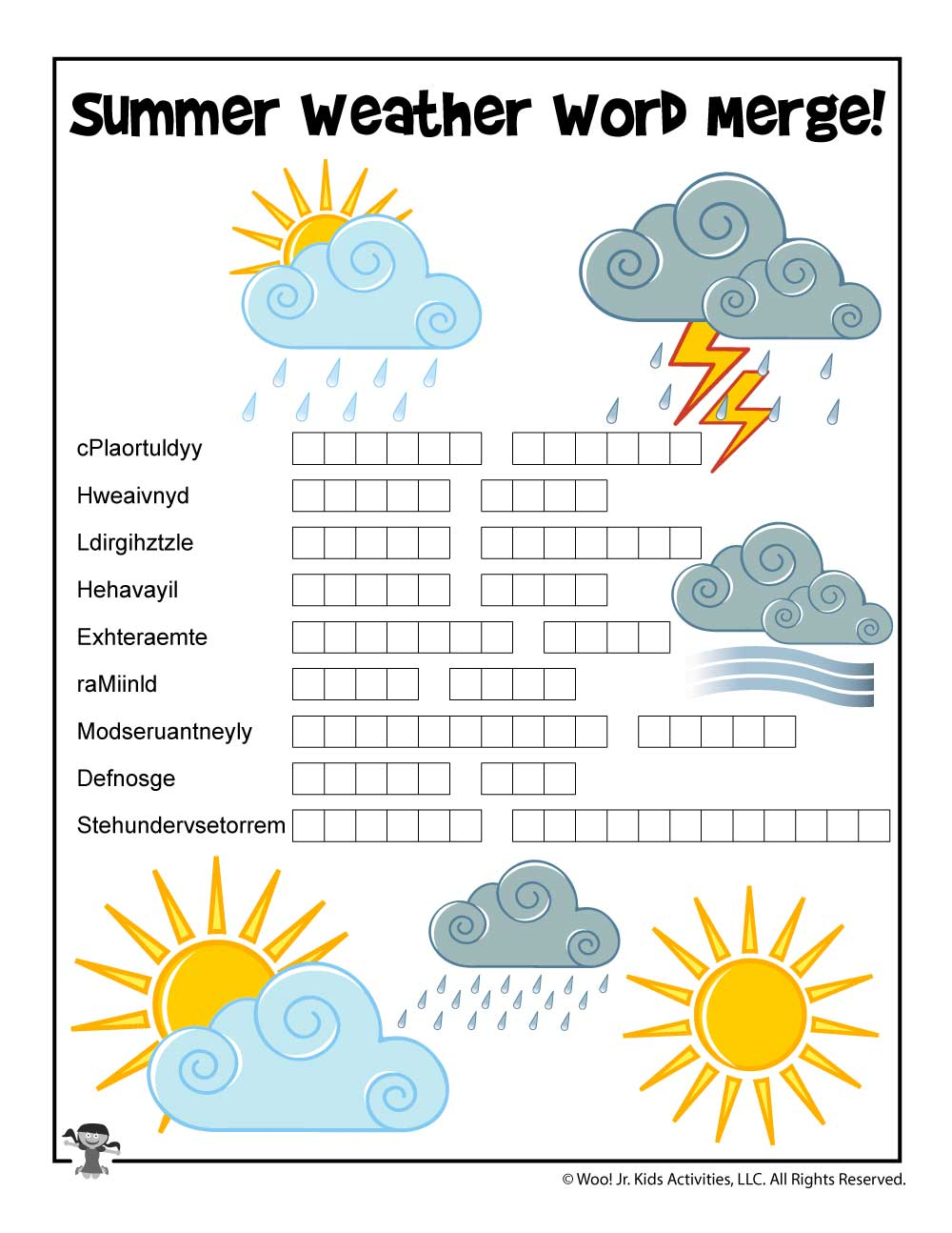 Summer Weather Word Puzzle