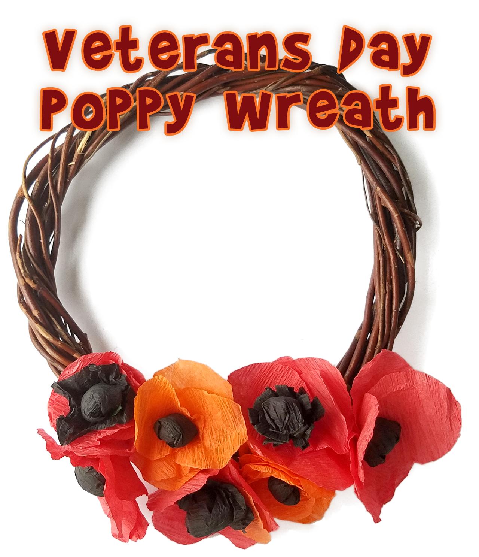 Veteran S Day Craft Crepe Paper Poppy Wreath
