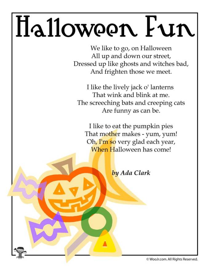 halloween poems for elementary | Frameimage.org