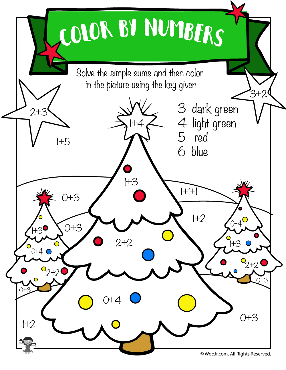 medium resolution of Free Printable Christmas Math Worksheets: Pre K