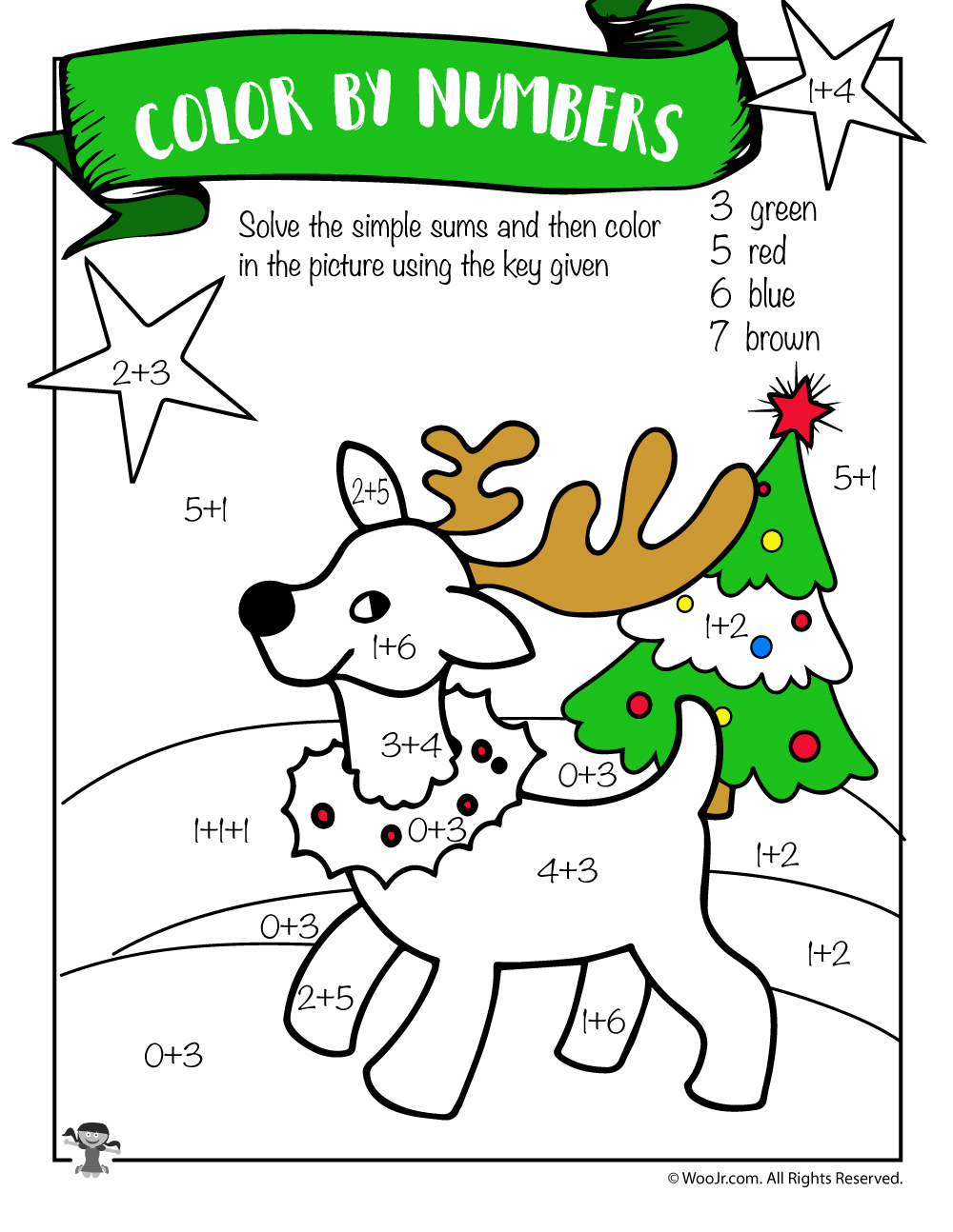 hight resolution of Free Printable Christmas Math Worksheets: Pre K