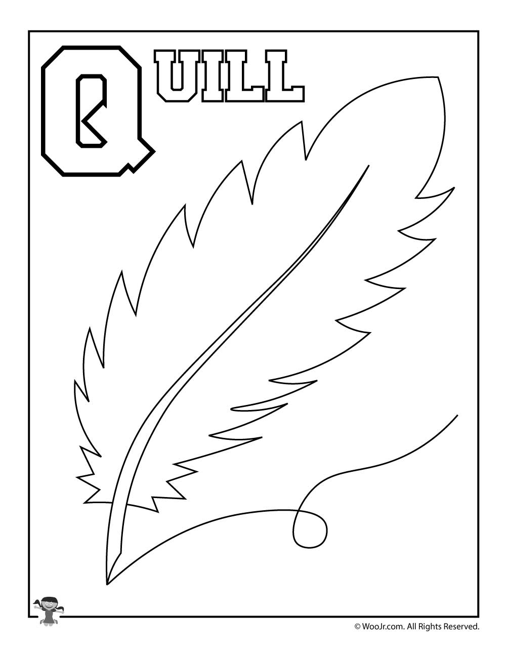 Q Is For Quill Woo! Jr Kids Activities