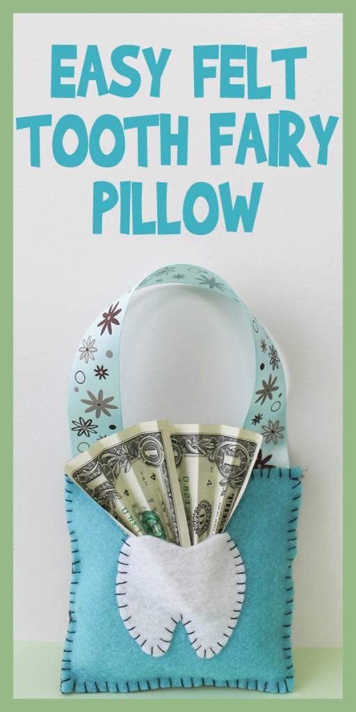 easy felt tooth fairy pillow tutorial