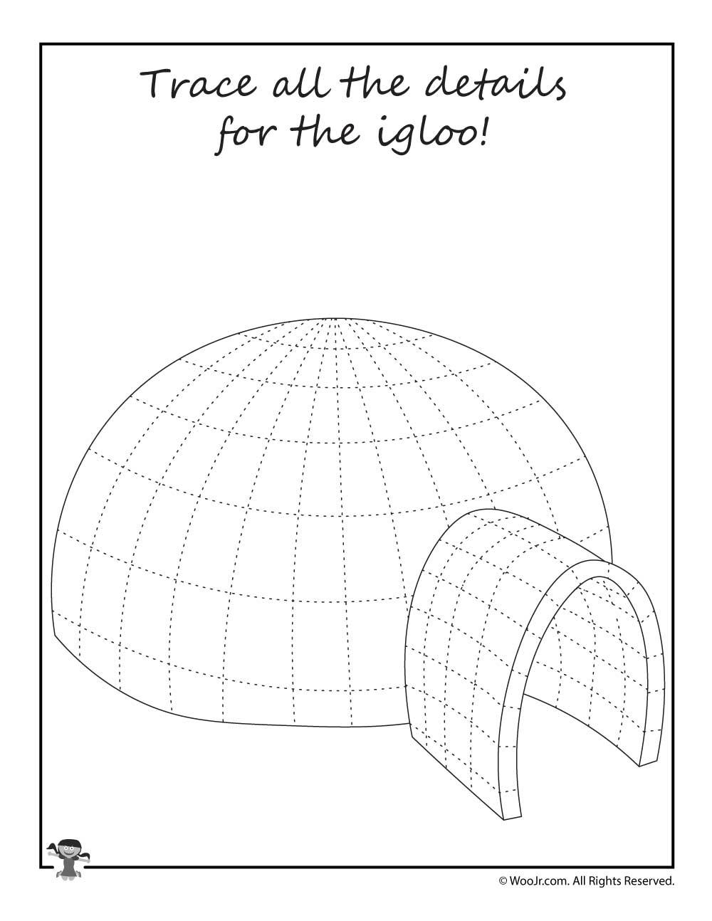 Igloo Preschool Worksheet. Igloo. Best Free Printable