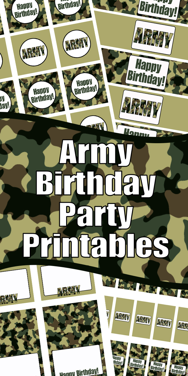 Army Birthday Party Printables Woo Jr Kids Activities