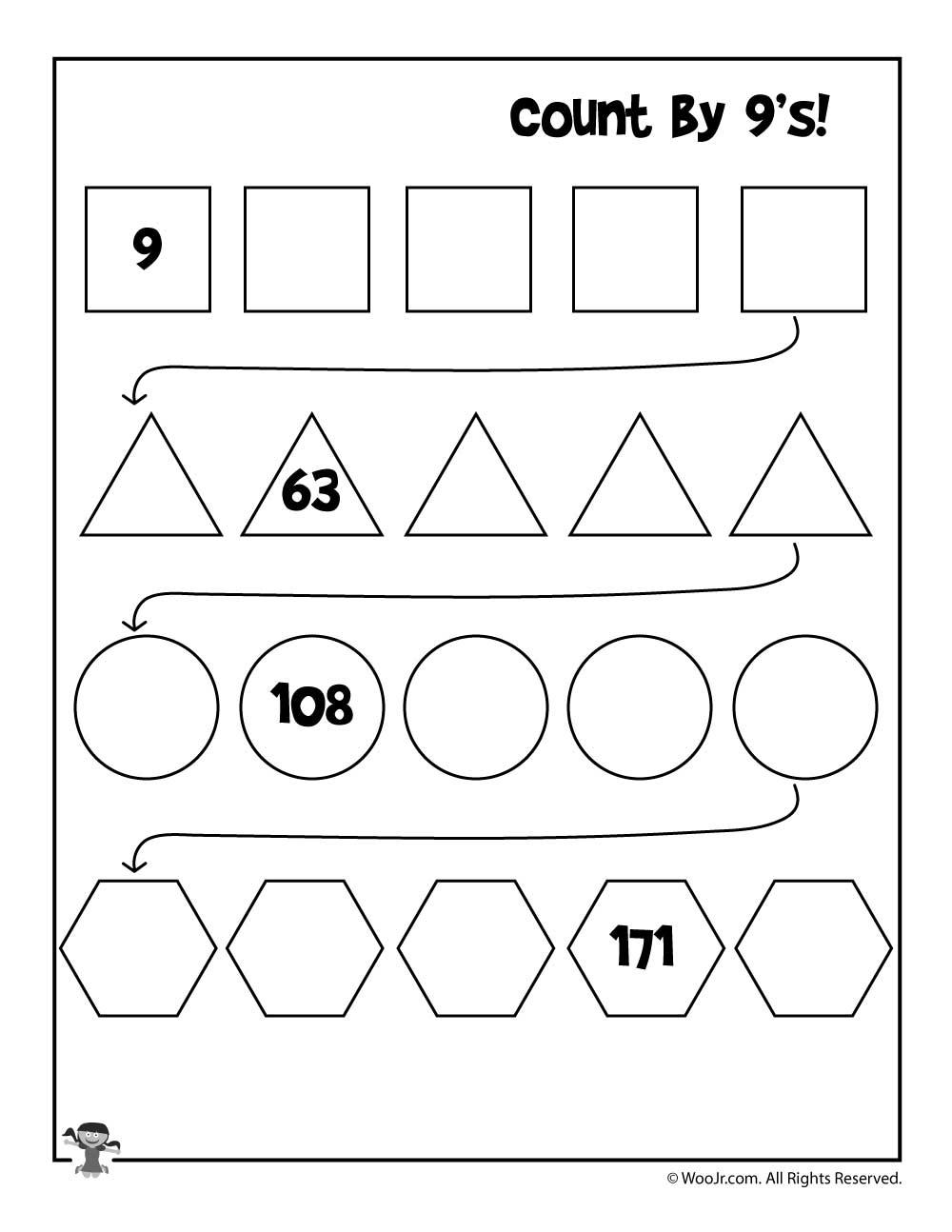 medium resolution of Simple Skip Counting Worksheets to Print   Woo! Jr. Kids Activities