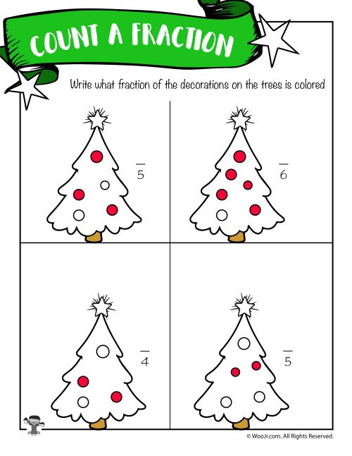 small resolution of First and Second Grade Christmas Math Worksheets   Woo! Jr. Kids Activities