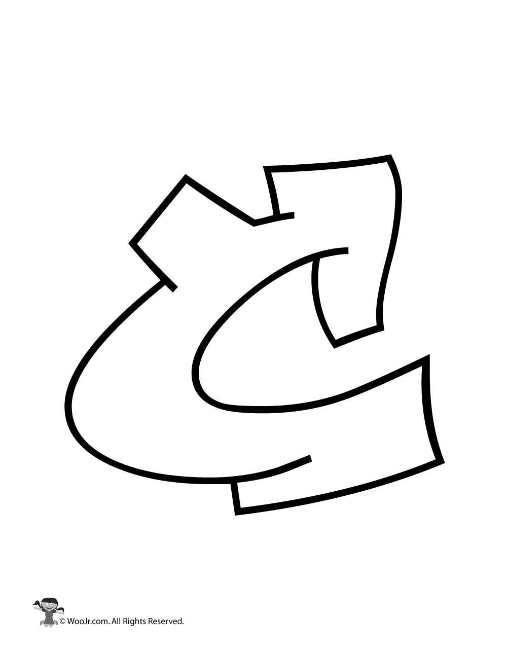 Graffiti Capital Letter C Woo Jr Kids Activities