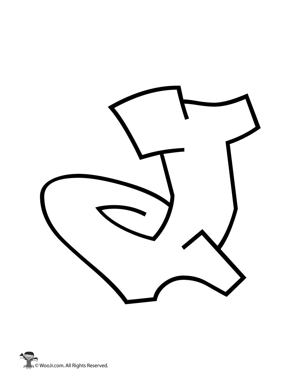 Graffiti Capital Letter J Woo Jr Kids Activities