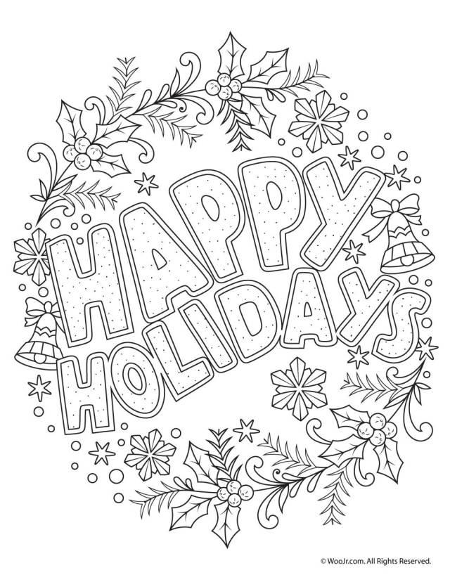 Happy Holidays Adult Coloring Freebie  Woo! Jr. Kids Activities