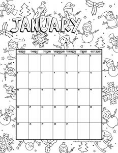 Preschool printable calendar 2019