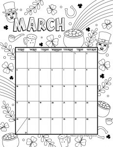 2019 Calendar Printable Monthly Calendar Mandala Coloring