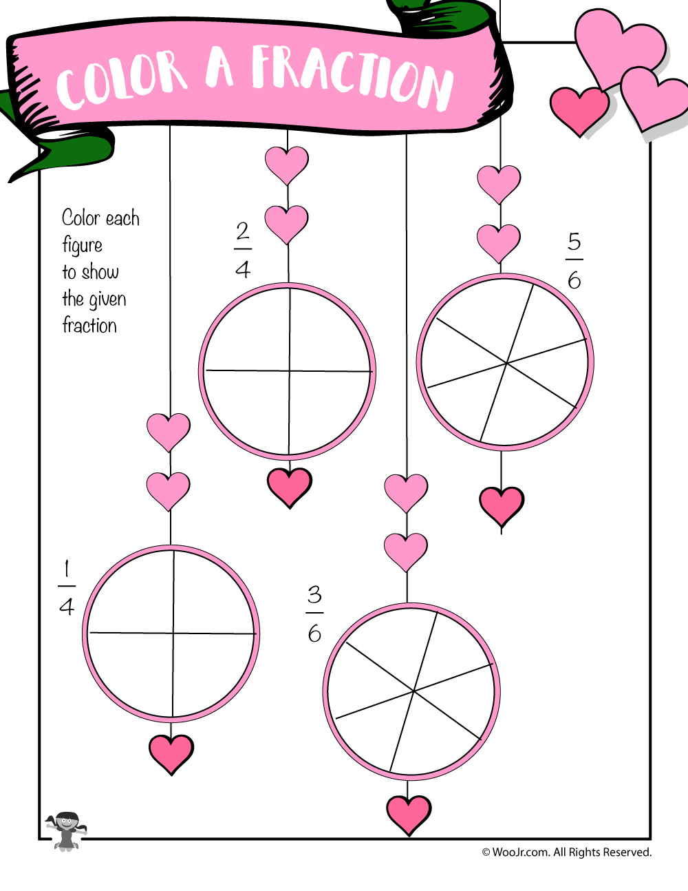 medium resolution of Valentine's Day Math Worksheets for First and Second Grade   Woo! Jr. Kids  Activities