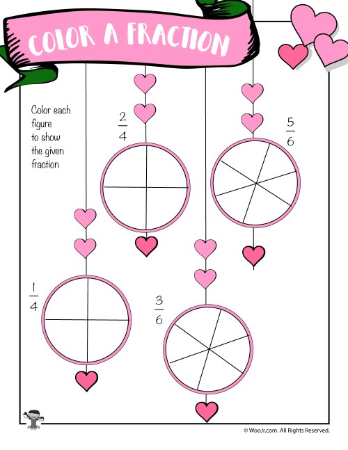 small resolution of Valentine's Day Math Worksheets for First and Second Grade   Woo! Jr. Kids  Activities