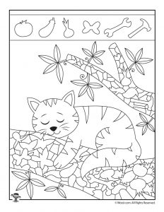 Easy Hidden Pictures with Animals Printable Activity Pages