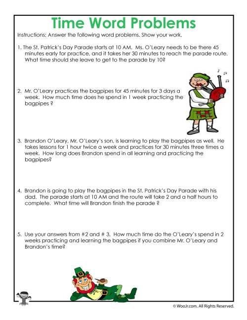 small resolution of St. Patrick's Math Word Problem Worksheet   Woo! Jr. Kids Activities