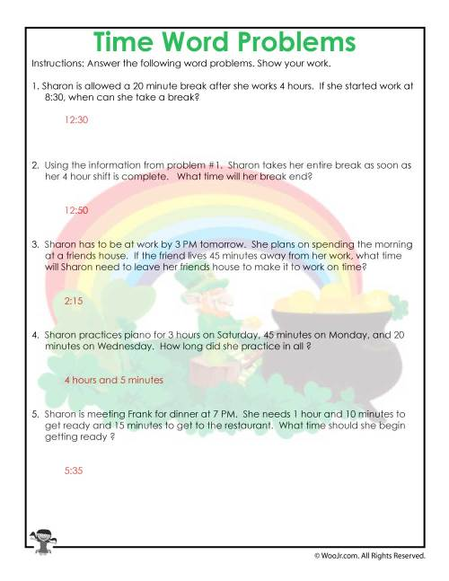 small resolution of 3rd Grade Time Worksheet Printable Answer Key   Woo! Jr. Kids Activities