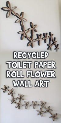 Recycled Toilet Paper Roll Flower Wall Art | Woo! Jr. Kids ...