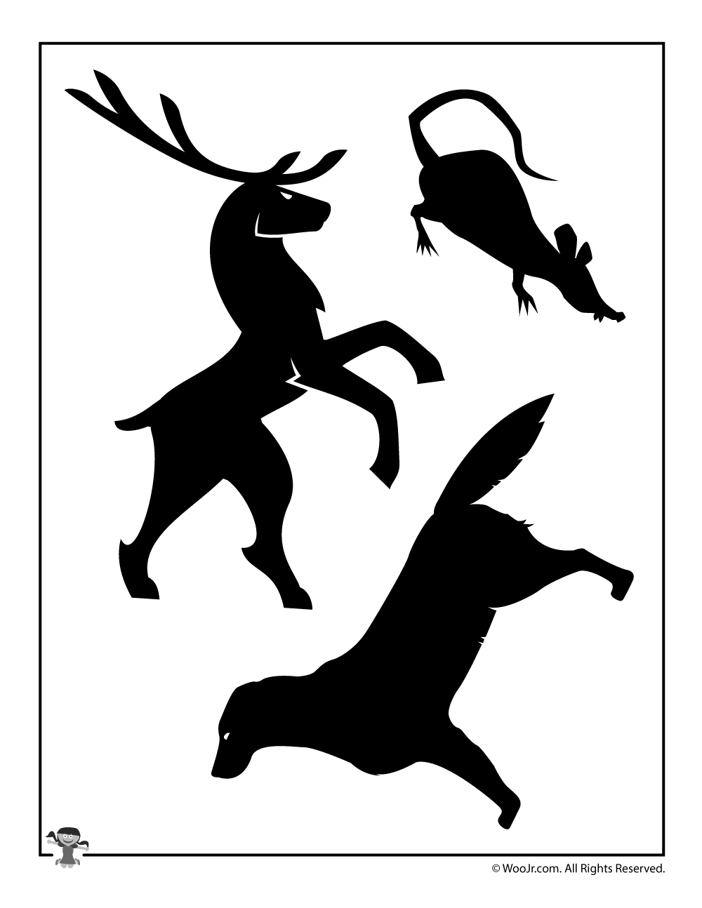 Animagi and Patronus Stag, Wormtail, and Padfoot Shadow