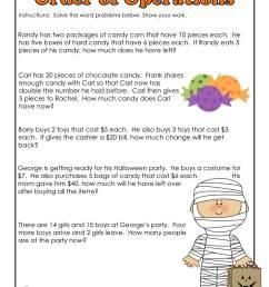 3rd Grade Halloween Math Worksheet Operations   Woo! Jr. Kids Activities [ 1294 x 1000 Pixel ]
